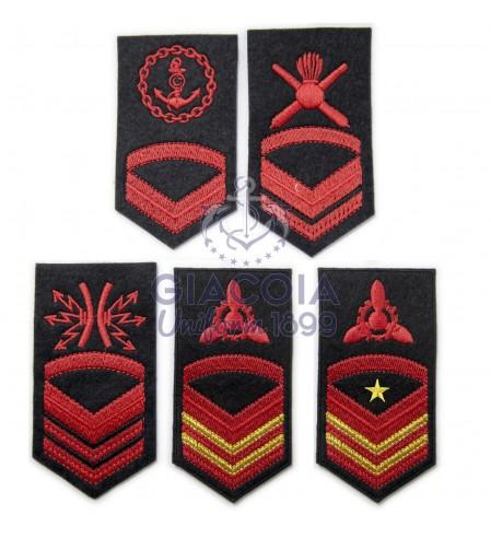 Gradi Ricamati Sottocapo Uniforme Invernale Marina Militare (coppia)
