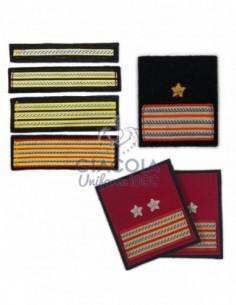 """Gradi """"travette"""" Sott.le Marina Militare Per Ordinaria Invernale (coppia)"""
