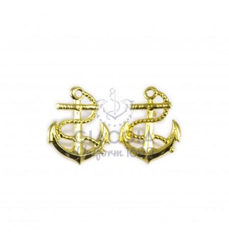 Ancore Oro Da Bavero Marina Mercantile (coppia)