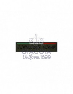 Patch Nominativa Con Testo Personalizzato E Tricolore