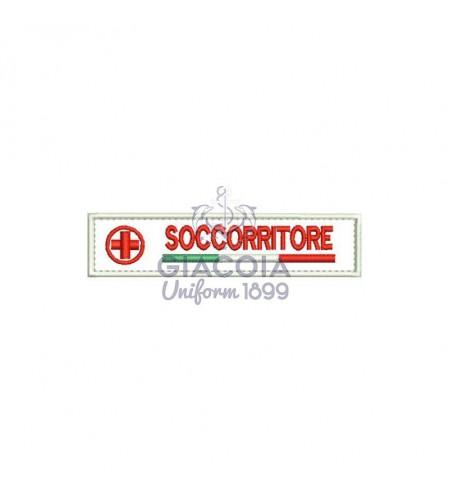 Patch Targhetta Soccorritore Croce Rossa Italiana