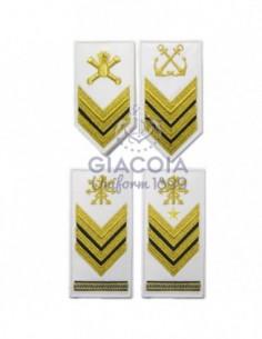 Gradi Ricamati Sottufficiali Marina Militare Per G.u.e. (coppia)